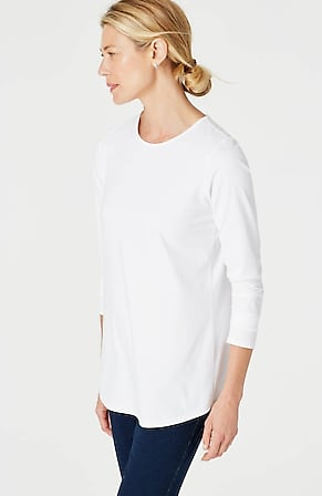 Image for Pure Jill Stretch-Cotton Shirttail Tee
