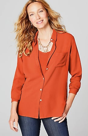 Image for Relaxed Shirttail Blouse