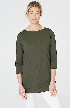 52896c32c2447 Product Image Quick Look for Pure Jill Boat-Neck Layered Tunic