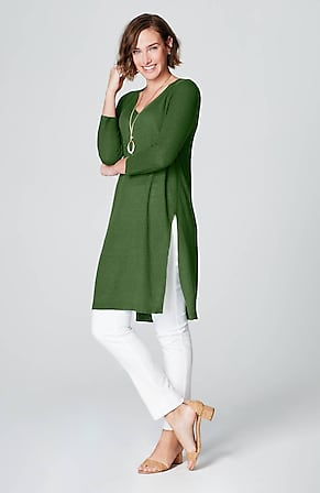 0eddf75fbe1 Product Image Quick Look for Textured-Sleeve Sweater Tunic