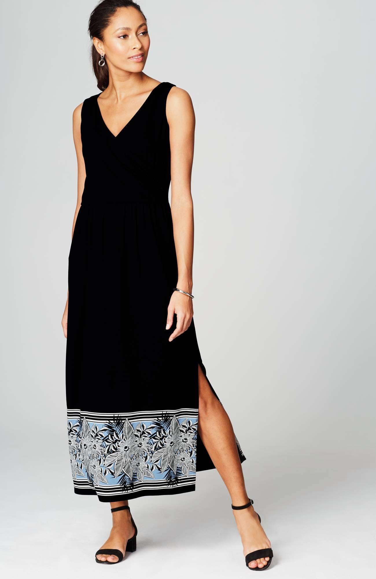 Wearever Wrap-Style Maxi Dress | JJill