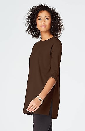 d5445a7b6fafc Product Image Quick Look for Luxe Supima® Ballet-Sleeve Tunic