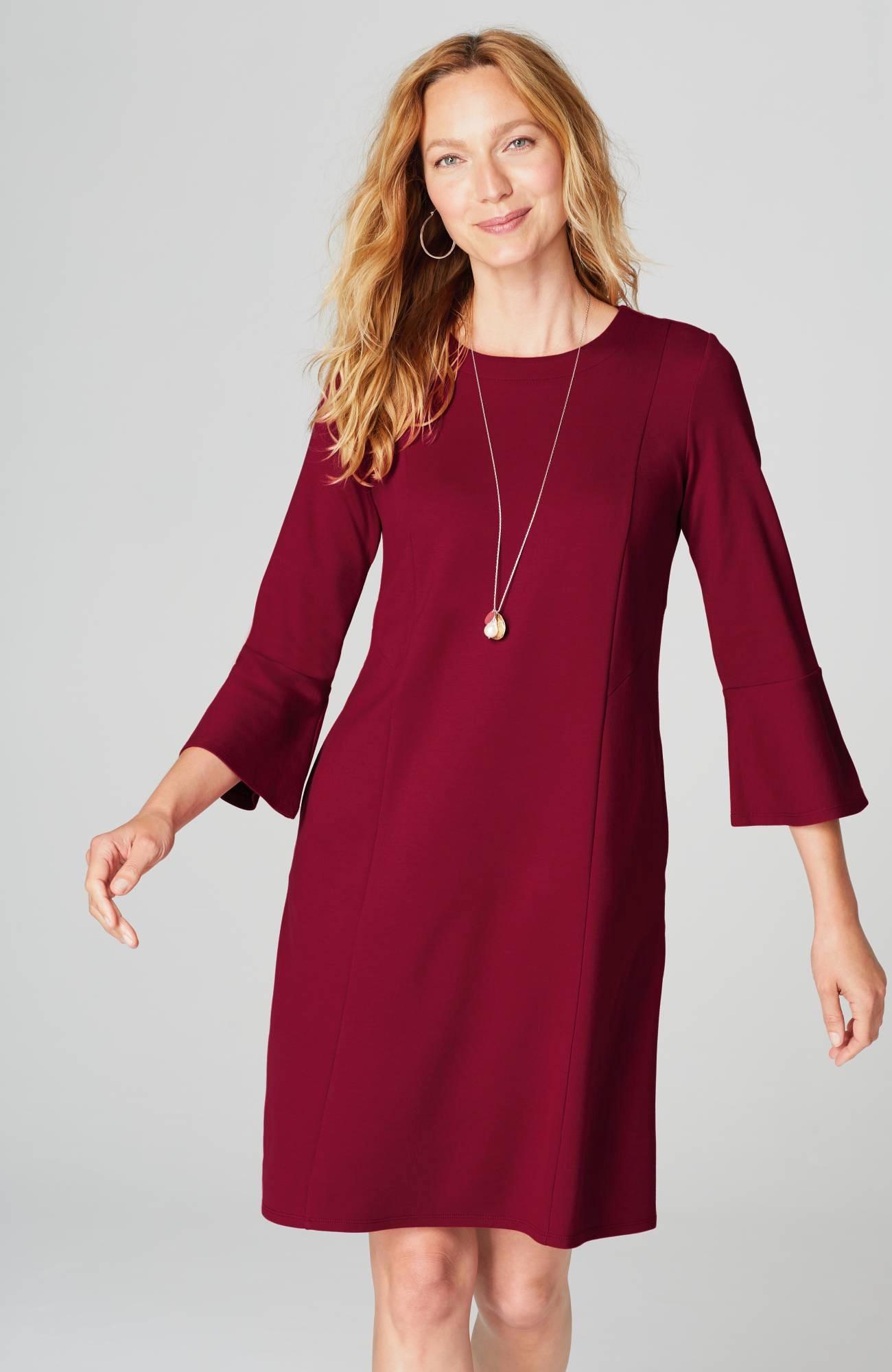 Ponte Knit Multiseamed Dress | JJill