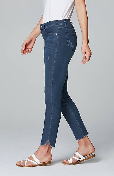 authentic fit tulip-hem jeans