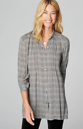 Image for Plaid Side-Vent Tunic