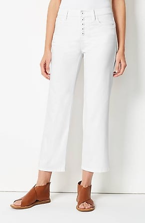 Image for High-Rise Button-Fly Cropped Jeans