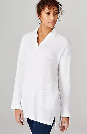 Image for Pure Jill Crinkled Cotton Tunic