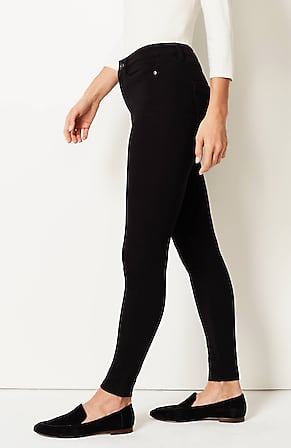 Side Image for Premium-Flex High-Rise Denim Leggings