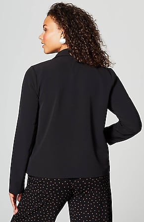 Back Image for Wearever Woven Drape-Front Jacket