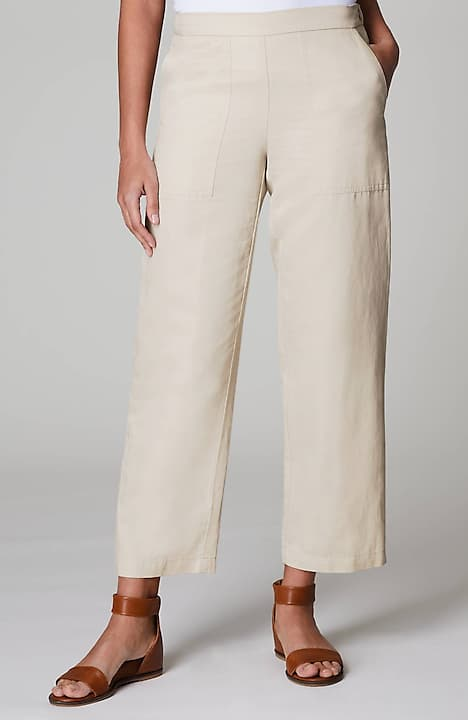patch-pocket full-leg ankle pants