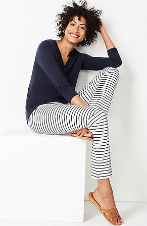 Image for Precision-Stretch Slim-Leg Pants