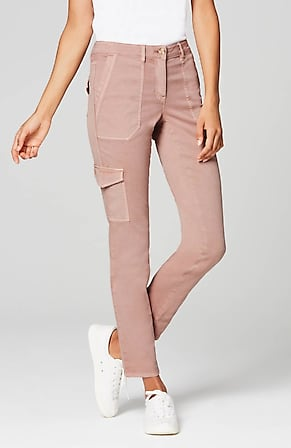 Image for Cotton-Stretch Cargo Pants