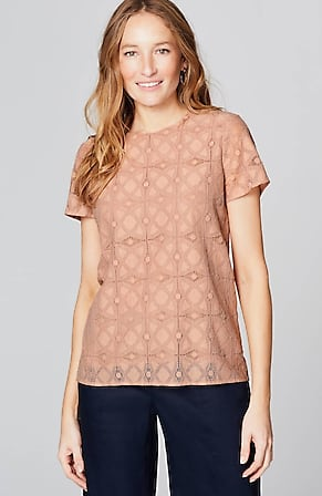 Image for Lace Crew-Neck Top