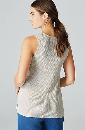 Back Image for Pure Jill Softly Textured Sweater Tank