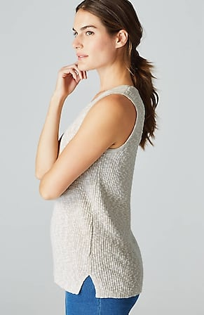 Side Image for Pure Jill Softly Textured Sweater Tank