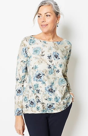 Image for Pure Jill Boat-Neck Dolman Top