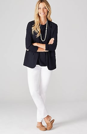 Product Image for Adrienne Linen & Rayon Knit Blazer