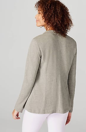 Back Image for Adrienne Linen & Rayon Knit Blazer