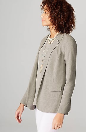 Side Image for Adrienne Linen & Rayon Knit Blazer