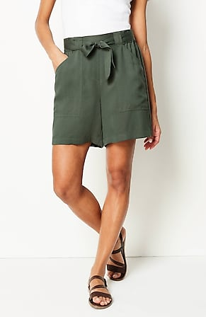 Image for Soft Tie-Waist Shorts