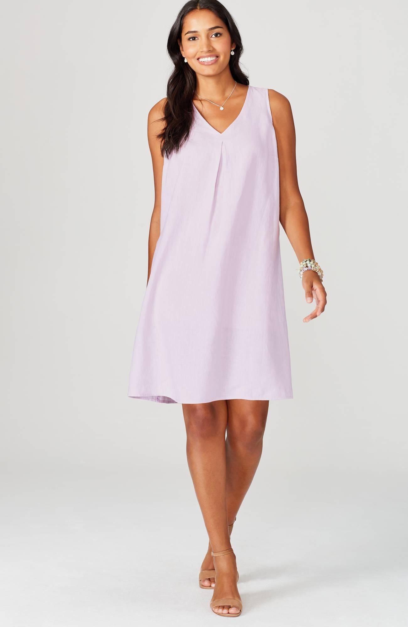 Linen A-Line Dress | JJill