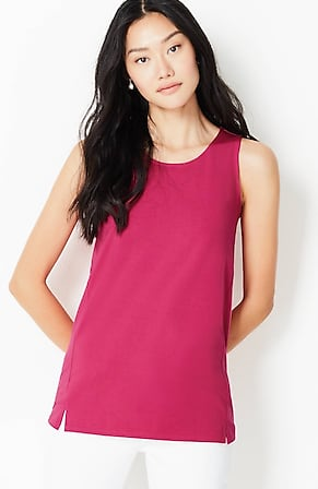 Image for Luxe Supima® Scoop-Neck Tank