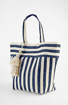 Product Image for Woven-Stripes Canvas Tote