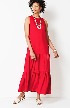 Image for Tiered Knit Maxi Dress