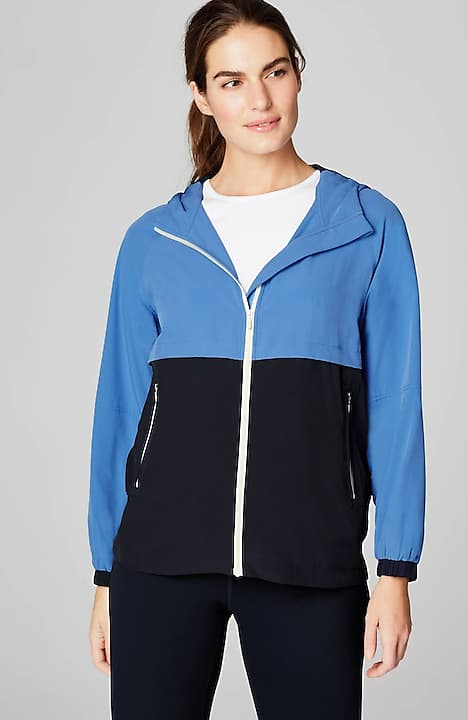 fit upf 50 color-block jacket