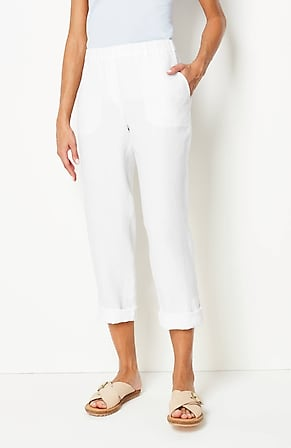 Product Image for Pure Jill Linen Slim-Leg Pants