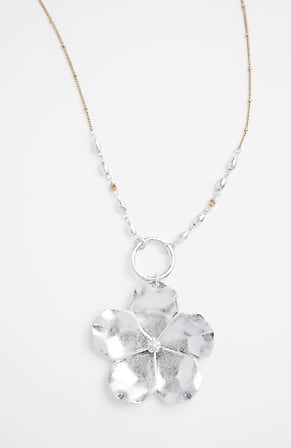 Side Image for Mixed-Metal Blossom Pendant