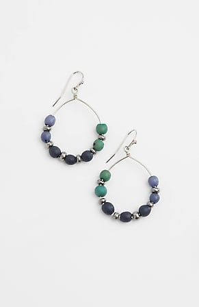 Product Image for Pure Jill Indigo Blues Beaded Hoops