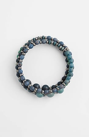 Product Image for Pure Jill Indigo Blues Beaded Wrap Bracelet