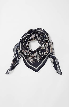 Product Image for Waterfloral Silk Square Scarf