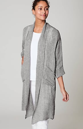 Image for Pure Jill Airy Linen Duster