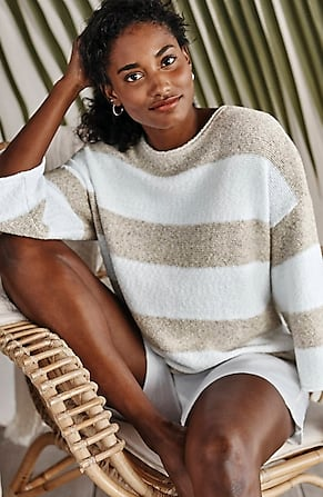 Image for Pure Jill Striped Textured Sweater