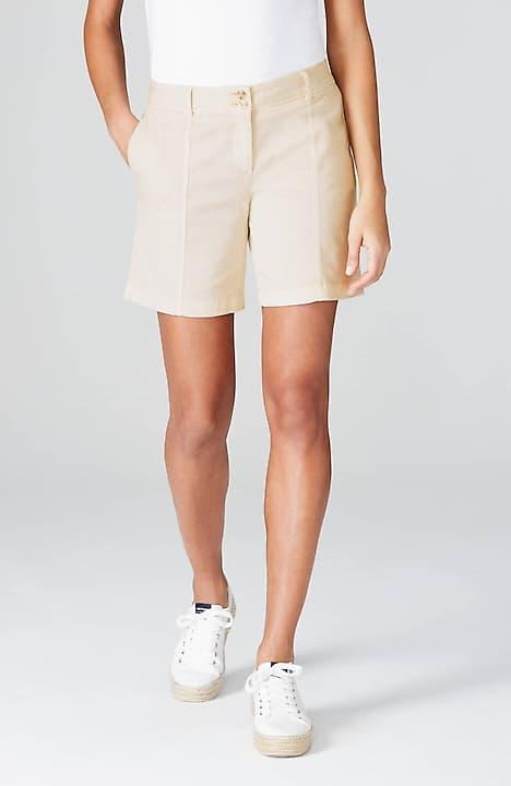 seamed cotton-stretch shorts
