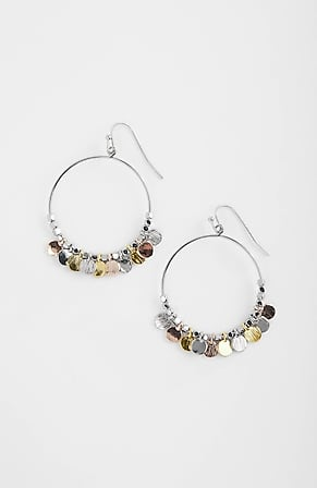 Product Image for Tri-Tone Hoop Earrings