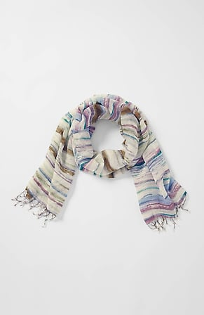 Product Image for Pure Jill Linen & Cotton Artisanal Stripes Scarf