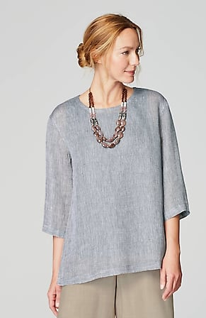 Image for Pure Jill Linen Airy-Weave Top
