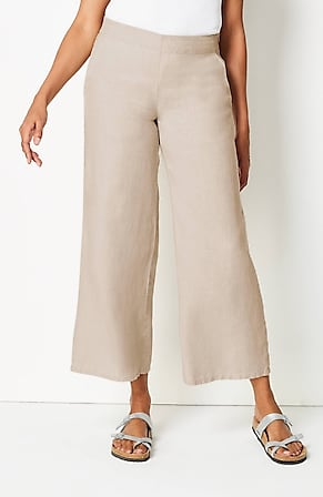 Image for Linen Full-Leg Pants