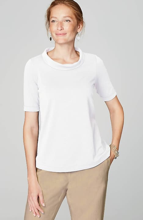 pure jill draped-neck top