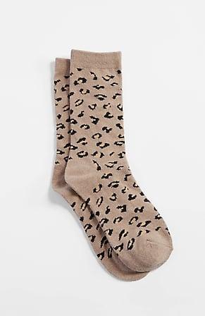 Image for Leopard-Pattern Crew Socks