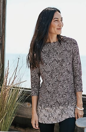 Image for Printed Knit A-Line Tunic