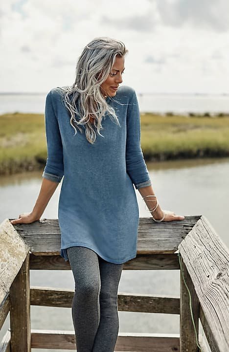 two-toned sweater tunic
