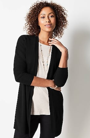 Image for Cashmere Rib-Trimmed Cardi