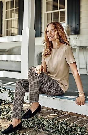 Image for Essential Ponte Slim-Leg Pants