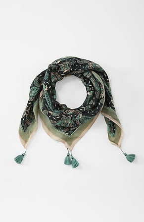 Product Image for Velvet-Trim Paisley Square Scarf