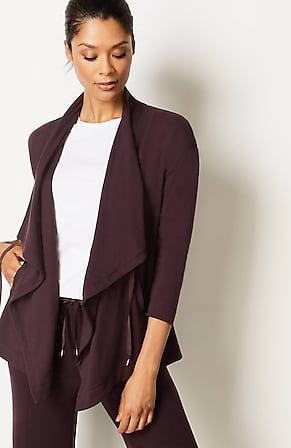 Image for Fit Ultimate-Fleece Draped-Front Jacket