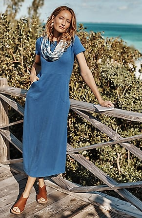 Image for Seamed Knit Maxi Dress